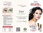 Nolines organic anti-aging duo system for face and eyes - brochure
