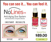 NOLINES ORGANIC ANTI-AGING DUO SYSTEM FOR FACE AND EYES WITH RESVERATROL