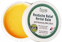 Headache Relief Herbal Balm with Rosemary, Mint, Basil.