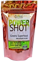 Power Shot Greens Superfood with Organic Blue Green Algae, Wheatgrass, Spirulina, Chlorella, Noni.