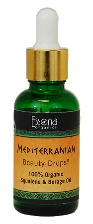 Mediterranean Beauty Drops with 100% Pure Olive Squalane, Olive Extract, Borage, Vitamin E.