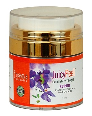 Juicy Peel Scrub with Pumpkin Enzymes, Fruit Extracts and Parisian Walnuts.