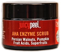 Juicy Peel AHA Enzyme Scrub w/ Persian Walnuts, Pumpkin and Superfruits.