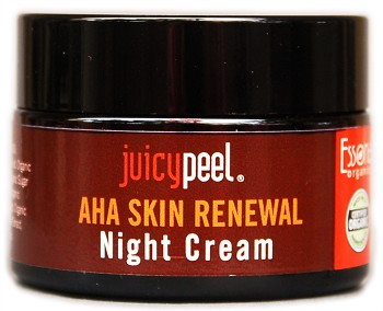 Juicy Peel AHA Skin Renewal Night Cream. Anti-aging formula.