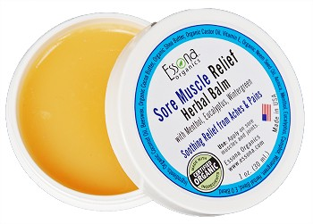 Sore Muscle Relief Herbal Balm with Menthol, Eucalyptus, Wintergreen.